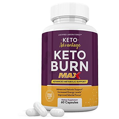 Keto Advantage Keto Burn Max 1200MG Keto Pills Includes Apple Cider Vinegar goBHB Exogenous Ketones Advanced Ketogenic Supplement Ketosis Support for Men Women 60 Capsules