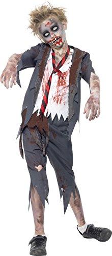 Smiffys Kinder Zombie School Jongen kostuum, Broek, Jack, Mock Shirt en Tie, Ernstig Plezier, Grootte: Groot, 43022L