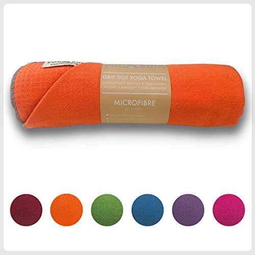 Yogabum Antideslizante Yoga Mat Prima Toalla (Tangerine)