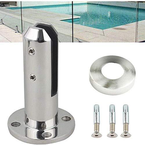 Hete-supply 1/8 stuks roestvrij stalen glasklemmen, 8-12 mm, glazen pinnen voor baluster-balustradepalen/balkon/terras, glasklem voor zwembaden en vaste vloerbeslagen