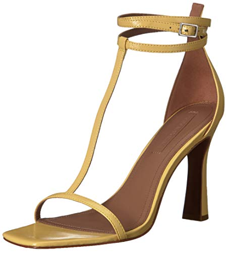 BCBGMAXAZRIA Women's Ina T-Strap Dress Sandal Sandal, Limelight, 10 M US