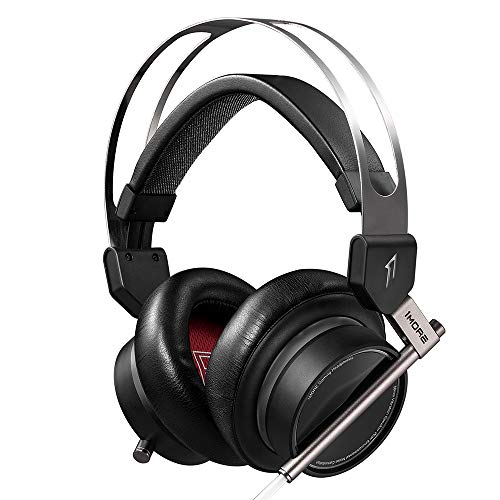 1More VRX Spearhead VRX Over-Ear Gaming Kopfhörer Super Bass Headset mit Waves Nx Head Tracking, 7.1 Surround Sound, LED, Dual Mikrofon Geräuschunterdrückung für PC/PS4/Xbox One/Mobile