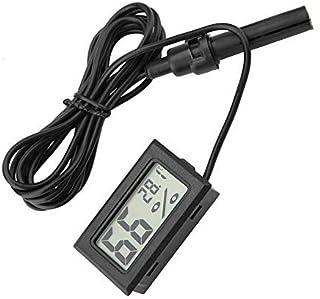 HEEPDD Mini termómetro Integrado Higrómetro Pantalla LCD Monitor de Temperatura y Humedad con sonda Externa para incubador...