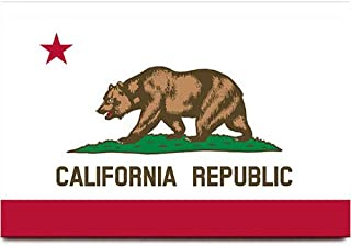 Fridge magnet travel souvenir (California flag)