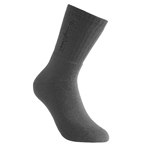 WoolPower Socken 400 Gramm mit Logo, grau, 36-39