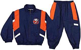 New York Islanders NHL Little Boys Toddler Crinkle Wind Suit Jacket & Pants Set, Blue