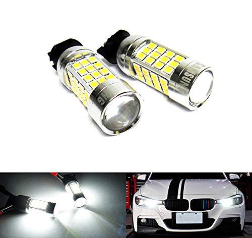 Lot de 2 ampoules LED blanches PW24W PWY24W 40W pour feux de position et feux de circulation diurnes DRL pour A3 A4 A5 F30 C4 Golf 208 RZG