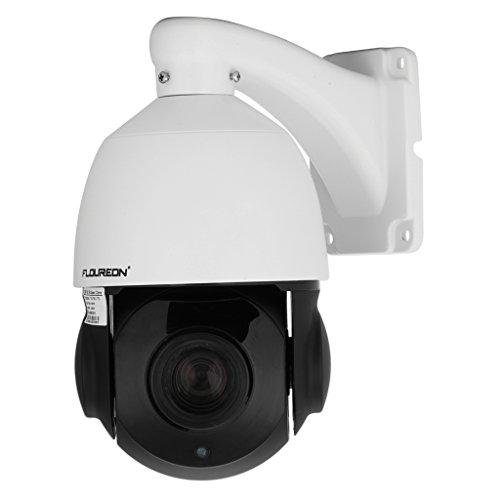 FLOUREON Videocamera di Sorveglianza PTZ Telecamera IP Impermeabile - 960P 1.3MP 18X Zoom Tecnologia P2P Funzione di Posizionamento 3D IR-Cut Infrarosso Visione Notturna Allarme Email