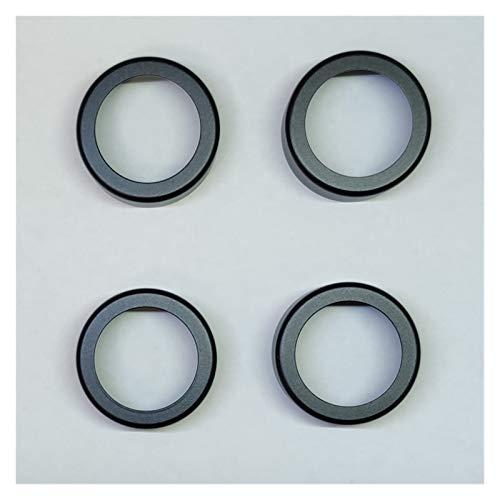 ZHANGXL XELIAN Coche Interior Decoración Acc Aire Acondicionado Ventilador Audio Estéreo Volumen Control Perilla Anillo Anillo Kit Fit para Volvo S40 V50 II 2 (Color Name : 4 Rings in Black)