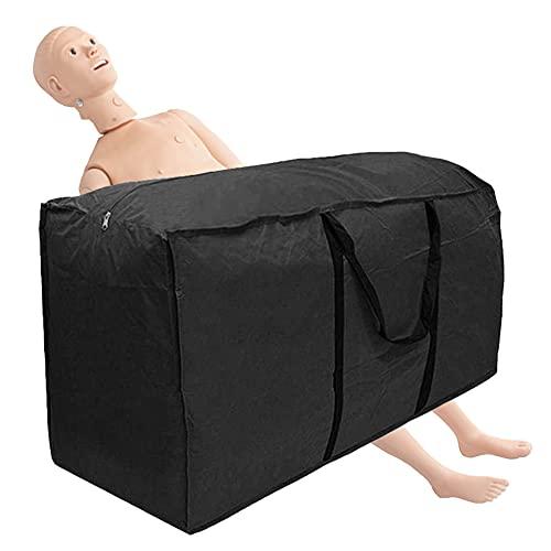 BIUYYY 170 Gallon Nursing Manikin Storage Bags Waterproof Oversized Zip Lock Bags Moving Boxes Wardrobe for Storage Comforter Quilt Bedspread Pillow Christmas Tree Nursing Mannequin