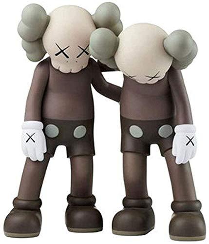 WSWJ Brown KAWS Fashion Accessories-PVC Personaje Modelo de Moda Moda-Casa Decoración-Cumpleaños Regalo Tamaño 28 cm