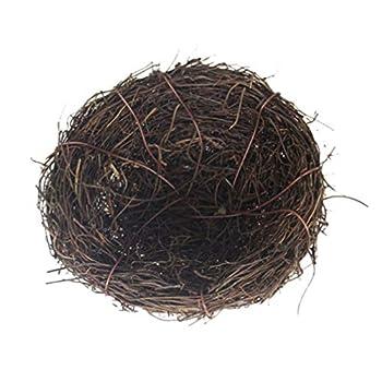 Happyyami Nid D'oiseau Ornements Faux Nid D'oiseau avec des Oeufs Accessoire de Nid D'oiseau pour La Maison Jardin Arbre Décor de Pâques