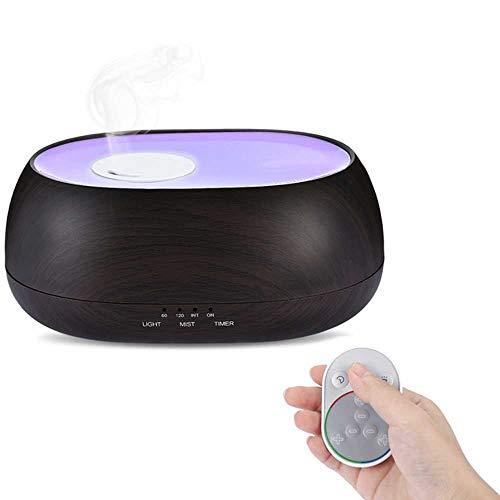 YSNMM Luchtbevochtiger 500 ml Ocupc mist hout tarwe aroma diffuser nachtlampje afstandsbediening Smart luchtbevochtiger