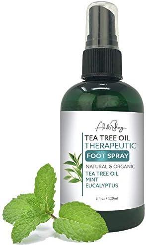 Ali Shay Tea Tree Oil Foot Shoe Spray Sneaker Deodorizer Body Deodorant Odor Smell Eliminator product image