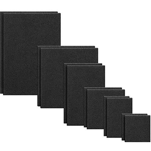 12 Piece 6 Size Self Adhesive Black Foam Sheet, 1/8 Inch Thick, Stick Foam Strip Insulation Rubber Sheet Non-Slip Furniture Pad, 12 x 9 Inch, 9 x 9 Inch, 9 x 6 Inch, 6 x 6 Inch, 6 x 4 Inch, 4 x 4 Inch