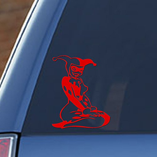 Signage Cafe Harley Quinn – 4' Wide x 5' Tall, Vinyl Decal - for Windows, Cars, Trucks, Tool Boxes, laptops and Tablets