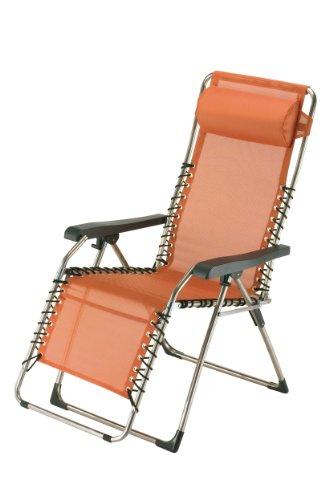 fiam 029TX AR Gartenliege aus Aluminium, verstellbar, 66,5x155x82cm, Orange