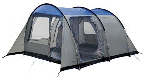High Peak Tunnelzelt Albany 5, 5 Personen Campingzelt mit Wohn-/Stauraum, eingenähter Zeltboden, Festivalzelt mit Stehhöhe, großes Familienzelt mit 2 Eingängen, doppelwandig, 4.000 mm wasserdicht