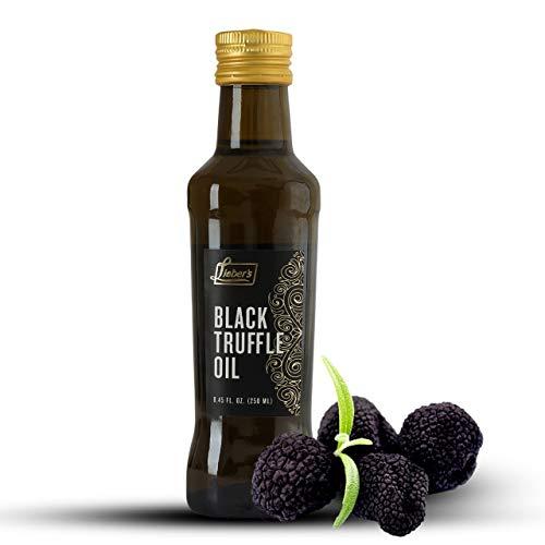 Lieber's Black Truffle Oil | Premium Truffle Oil for Cooking, Salad Dressing, Garnish | This Black Truffle Oil Is Kosher For Passover, Vegan, Vegetarian & Gluten Free | 8.45 Fl Oz Glass Bottle