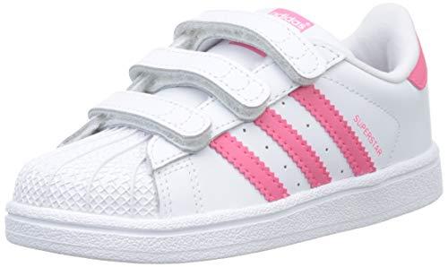 Adidas Unisex Kinder Superstar Cf I Sneaker, Weiß (Ftwbla/Rosrea/Rosrea 000), 26 EU