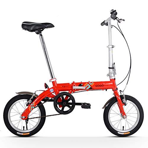 Nengge Opvouwbare fiets, volwassenen, uniseks, 14 inch (14 inch), kleine vouwfiets, eenvoudig te transporteren, draagbaar