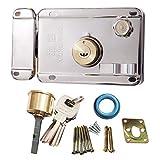 Sepuly Safety Vertikaler Schlüsselweg-Zylinder Riegelschloss Set Außentürschloss 11,9 x 8,9 cm Diebstahlsicherung für Zuhause