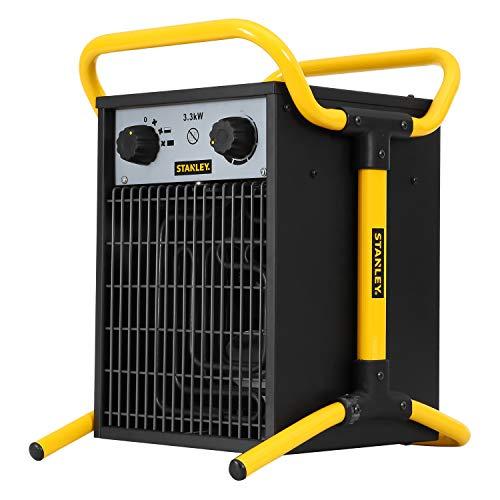 Stanley eléctrico calentador industrial, 3300 W, Stainless Steel, Negro