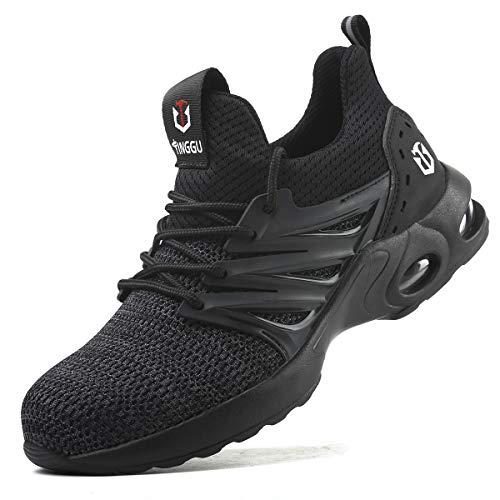 SROTER Zapatos de Seguridad para Hombre con Puntera de Acero Zapatillas de Seguridad Trabajo Antideslizante Ligeros Calzado de Industrial y Deportiva