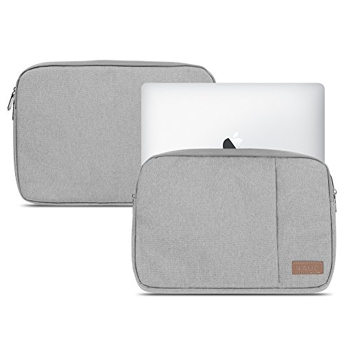 NAUC Notebook Sleeve Hülle Laptop Schutz Tasche Notebooktasche Ultrabook MacBook Grau Schwarz Blau Tablet, Notebook:TrekStor SurfTab Duo W3 W2 W1, Farbe:Grau