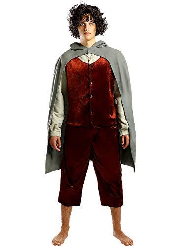 Funidelia | Disfraz de Frodo - El Señor de los Anillos Oficial para Hombre Talla S ▶ El Hobbit, Películas & Series, El Señor de los Anillos, Lord of The Rings (LOTR) - Color: Gris / Plateado