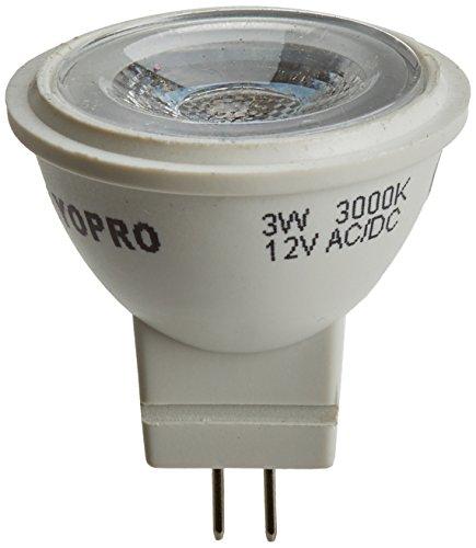 LYO dichroic LED COB avec lumière chaude intégré, 3 W, Blanc, 5 X 6.3 cm, lot de 4