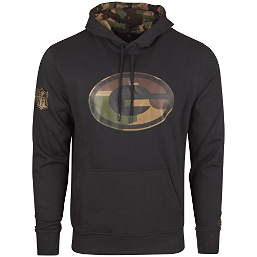 New Era Fleece Hoody - NFL Green Bay Packers schwarz - L