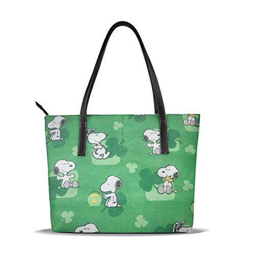 Cartoons Sn-oo-py Handtasche Mikrofaser-Handtasche Drucken Weich, leicht wasserdicht für Frauen Handtasche Geeignet für Geschäftsreisen Einkaufen