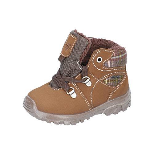 RICOSTA Kinder Outdoor Stiefel DESSE von Pepino, Weite: Weit (WMS),wasserfest, Spielen detailreich Freizeit,Caramel/Schoko,28 EU / 10 Child UK