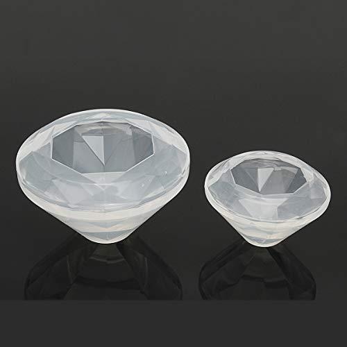 Global Brands Online DIY Silicona Diamante Forma Colgante Molde de La Joyerãa Fabricaciã³n de Resina Fabricaciã³n de Moldes Molde Herramienta