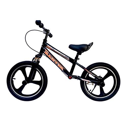 Bicicleta Sin Pedales Equilibrio 14 Pulgadas / 16 Pulgadas Bicicleta de Equilibrio con Freno de Mano Delantero y FootRest, 4.6,8.10,12 Años Grande Niños Sin Pedales Bicicleta De Entrenamiento Grande,