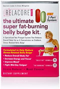 Relacore Ultimate Super Fat Burning Belly Bulge Kit – Diet Pills – Fat Burners for Women and Men – Fat Burner – Fat Burn Supplement – Stress Relief – Cortisol Supplements for Women and Men – 105 Ct.