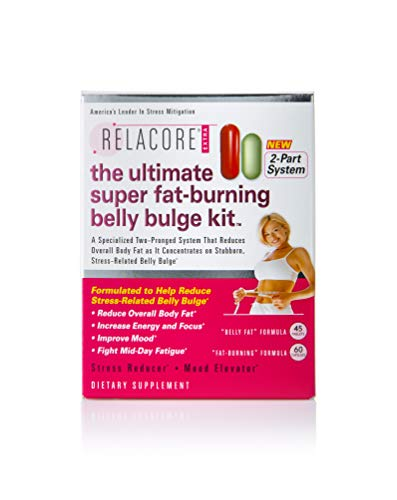 Relacore Ultimate Super Fat Burning Belly Bulge Kit - Diet Pills - Fat Burners for Women and Men - Fat Burner - Fat Burn Supplement - Stress Relief - Cortisol Supplements for Women and Men - 105 Ct.