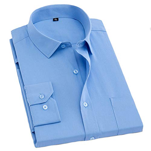 Herren Hemden Loose Casual Shirt Langarm, Revers Full Button Taschenstreifen Unifarben, Business Office Daily Leisure