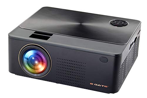 Egate K9 Android 720p (1080p Support) , 3000 L (360 ANSI ) with 180 ' Large Display LED Projector | VGA , AV, HDMI , SD Card , USB Connectivity | (E11k63) (Black)