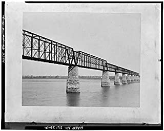HistoricalFindings Photo: Cairo Bridge,Spanning Ohio River,Cairo,Alexander County,IL,Illinois,HABS,1