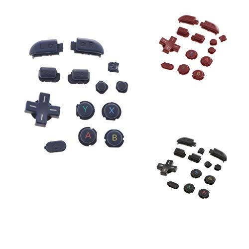 Baoblaze 3x Remplacement Bouton Complet 13 en 1 ABXY Déclenchement Pare-chocs Pour Nintendo Nouvelle Console 3DS