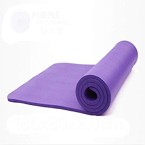 Aoligei, tappetino da yoga per il tempo libero, tappetino fitness, protezione ambientale, Viola