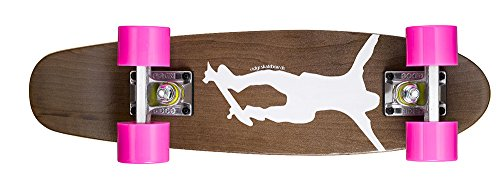 Ridge Skateboards Maple Mini Dark Dye - Longboard, Color Rosa, Talla 22-Inch