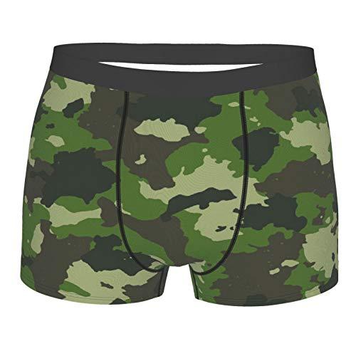 Popsastaresa Männerunterwäsche,Woodland Summer Camouflage, Boxershorts Atmungsaktive Komfortunterhose Größe XXL
