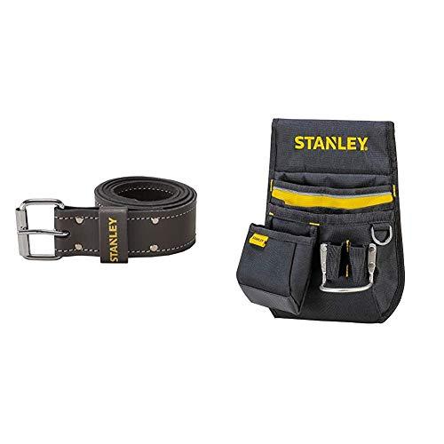 Stanley STST1-80119 Cintura in cuoio per foderi porta utensili & 1-96-181 Fodero Porta Utensili