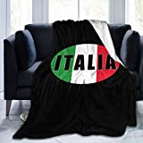 Italia Italy Italian Flag Super Soft Micro Fleece Blanket air Conditioning Blankets Suitable for Sofa Bed