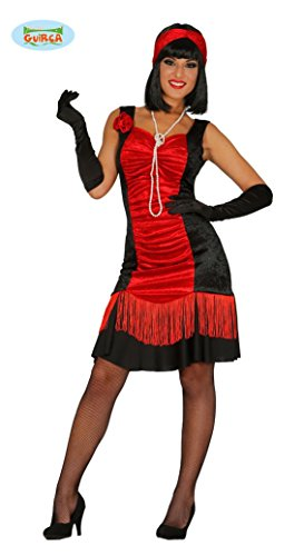 rotes Charleston Kleid Karneval 20er Jahre Motto Party Kostüm für Damen Gr. M-XL, Größe:M