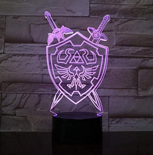 YOUPING Luz nocturna 3D Lámpara de mesa aliento ilusión visual LED