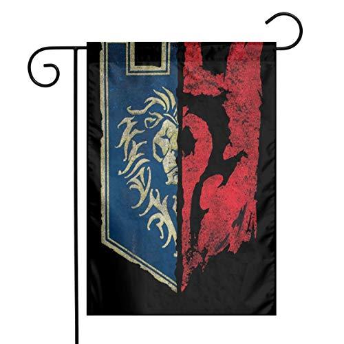 N / A World of Warcraft for The Horde Fahnen Flagge Flag Banner Polyester Material Gartenbalkon Gartendekoration Im Freien 30x45cm